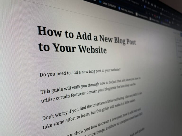 How to add a new blog post to your website.